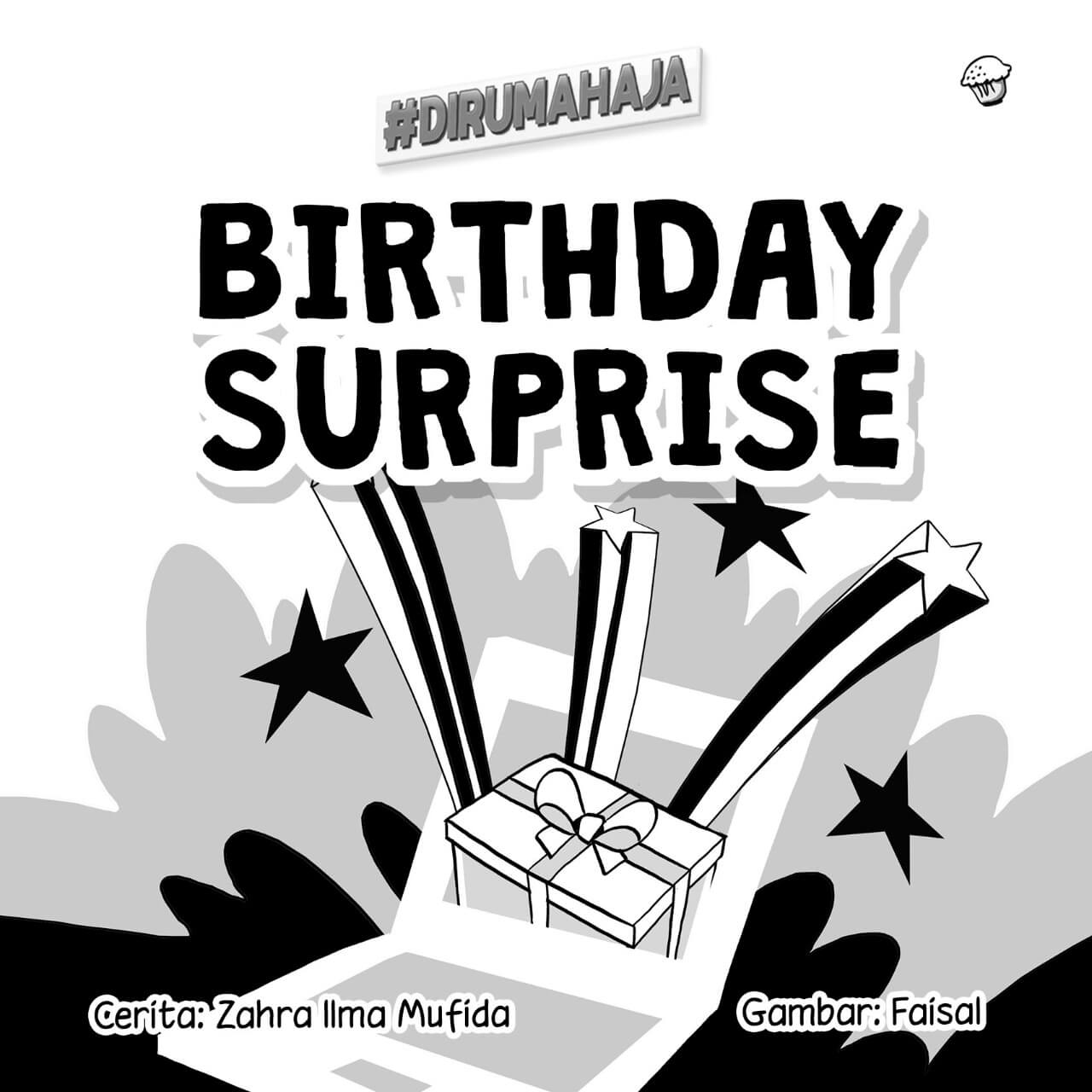Birthday Surprise cover BW