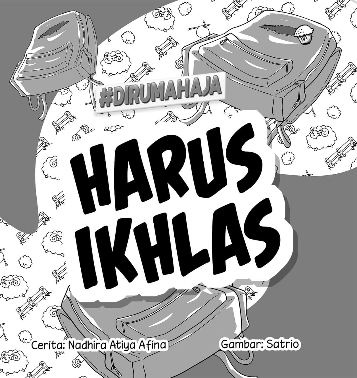 Harus Ikhlas Cover BW