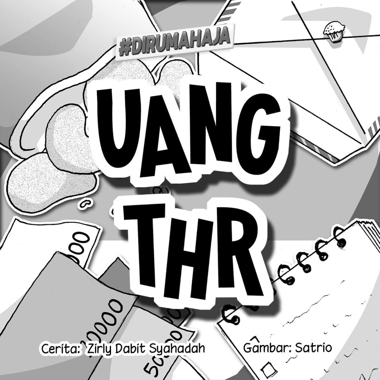uang thr cover bw